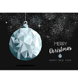 Christmas silver bauble ornament greeting card vector image vector image