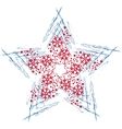 Christmas star with snowflakes vector image vector image
