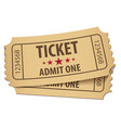 cinema ticket conceptual vector image