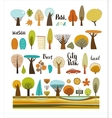 City park set with lettering vector image vector image