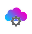 cloud storage settings linear icon thin line vector image vector image