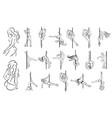 concept of striptease girl vector image