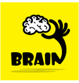 Creative brain sign ideaflat design vector image vector image