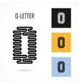 Creative O - letter icon abstract logo design vector image