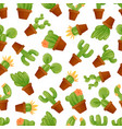 cute mexican cactus seamless pattern with vector image