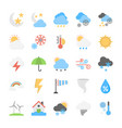 disasters and weather conditions flat icons set vector image