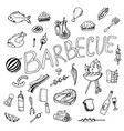 doodle barbecue vector image