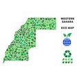 ecology green composition western sahara vector image vector image