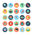 Fashion and Beauty Colored Icons 5 vector image vector image
