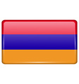 Flags Armenia in the form of a magnet on vector image vector image