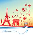 france holiday background vector image vector image