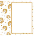 golden luxery frame with hand drawn design vector image vector image