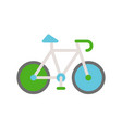 green bicycle flat icon save environmental concept vector image