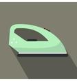 Green iron flat icon vector image vector image