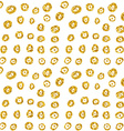 Hand drawn dotted seamless gold glitter pattern vector image vector image