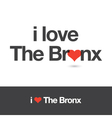 i love bronx vector image vector image