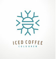 iced coffee logo design template vector image