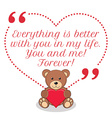 Inspirational love quote Everything is better with vector image