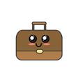 kawaii cute happy briefcase icon vector image vector image
