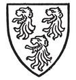 kenton bore gules three lions head razed sable vector image vector image