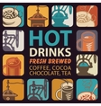 logo for hot drinks vector image vector image