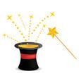 magic hat and wand vector image vector image