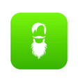 male avatar with beard icon digital green vector image vector image
