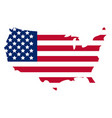 map of america icon flat style isolated on white vector image vector image