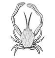 masked crab vintage vector image vector image