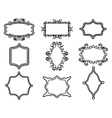ornamental vintage frame set vector image