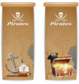 Pirate Banner Vertical vector image vector image