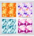 polygonal background seamless patterns set vector image