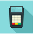 pos bank payment terminal icon flat style vector image vector image