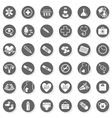 Pregancy and medical set icons vector image
