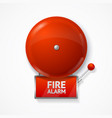realistic detailed 3d red school fire or alarm vector image vector image