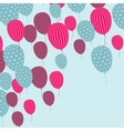 Retro Balloon Pattern vector image vector image