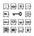 safe protected icon set vector image vector image