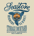 sea store marine nautical service vector image vector image