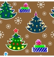 Seamless Christmas Trees vector image