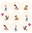 set of children playing and having fun vector image