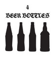 set of four beer bottle icons vector image vector image
