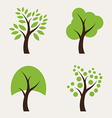 set tree icons vector image vector image