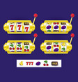 slot machine jackpot winning combination symbols vector image