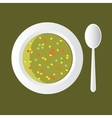 vegetable soup vector image vector image