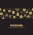 vintage warrior background with mediewal knights vector image vector image