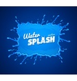 Water splash with blue vector image vector image