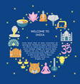 welcome to india concept banner in flat style vector image vector image