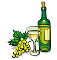 white table wine vector image