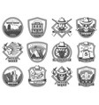 wild west icons american western and cowboy vector image vector image