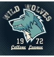Wild wolves sports mascot vector image vector image